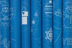 新年标志图纸卷 免版税库存照片