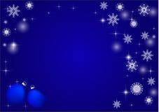 新年的背景,蓝色背景 文本的拷贝空间 库存例证