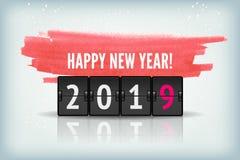 新年设计传染媒介的读秒定时器2019年 免版税图库摄影
