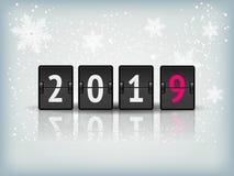 新年设计传染媒介的读秒定时器2019年 库存照片