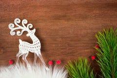 新年驯鹿 免版税库存图片