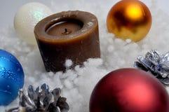 新年,圣诞节,假日装饰- DIY家装饰 免版税图库摄影