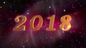 新年2018年打开的动画 库存例证