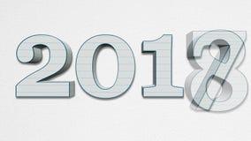 新年2018年替换的老年2017美好的圈 向量例证