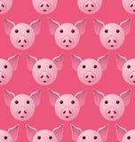 新年2019年猪Seampless样式 向量例证