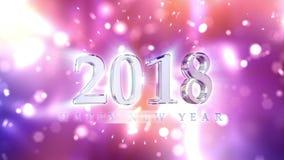 新年2018年读秒背景 向量例证