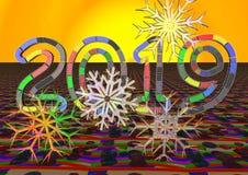 新年2019年,圣诞节 颜色2019年 假日,圣诞节,新年摘要纹理 免版税图库摄影