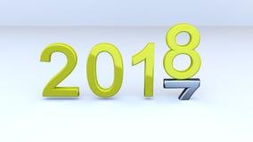 新年2018年 库存照片