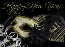 新年` s伊芙狂欢节面具 免版税库存照片