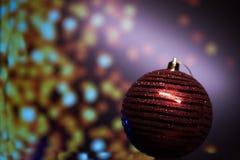 新年` s在与光的黑背景戏弄 免版税库存照片
