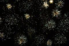 新年` s烟花、圣诞节或者另一个假日 免版税库存照片