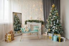 新年` s照片区域,圣诞节地点 免版税库存照片