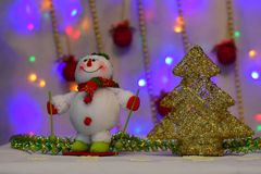 新年` s童话来到每个房子 库存照片