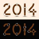 新年2014年 免版税图库摄影