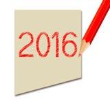 新年2016年 免版税图库摄影
