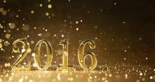 新年2016年 免版税库存照片