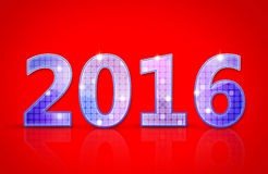 新年2016年 库存图片