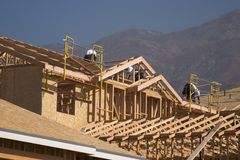 新建筑家庭的房子 免版税图库摄影