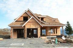 新建筑家庭的房子 免版税库存图片