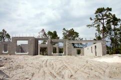 新建造的家部分地 免版税库存图片