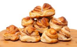 新开胃小甜面包 免版税图库摄影