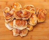 新开胃小甜面包 免版税库存图片