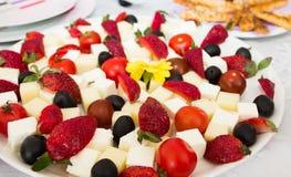 新开胃菜高原用草莓 库存图片