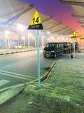 新德里出租汽车线 免版税图库摄影