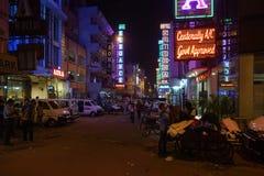 新德里在夜之前 免版税图库摄影