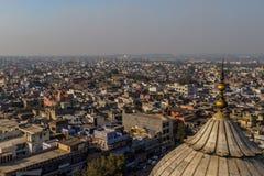 新德里,印度鸟瞰图  图库摄影