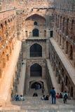 新德里,印度-大约2017年11月:Ugrasen ki Baoli台阶  库存照片
