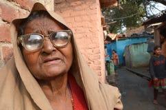 印第安年长妇女 库存照片