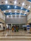 新德里,印度- 3月14,2019:在拉吉夫・甘地巨蟹星座学院&研究中心里面看法 |医院 图库摄影