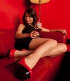新性感的妇女纵向  免版税库存照片