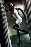 新性感的goth妇女 免版税库存照片