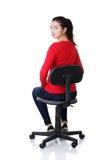 新愉快的妇女坐轮椅 免版税图库摄影