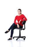 新愉快的妇女坐轮椅 免版税库存图片
