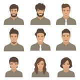 新成人的表面 妇女,人动画片具体化 向量例证