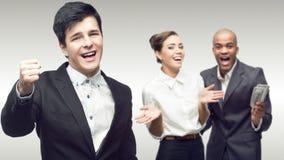 新成功的商人小组 免版税图库摄影