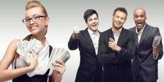 新成功的商人小组 免版税库存图片