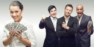 新成功的商人小组 免版税库存照片