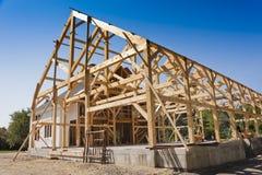 新房建筑 免版税库存图片
