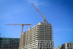 新房建设中建筑工地的 免版税库存图片