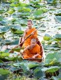 新手修士在泰国 免版税图库摄影