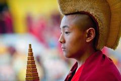 新手修士,尼泊尔 免版税图库摄影