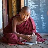 新手修士,缅甸 图库摄影