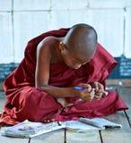 新手修士,缅甸 免版税图库摄影
