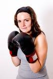 新拳击的妇女 免版税图库摄影