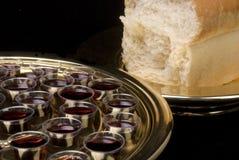 新教徒圣餐的要素 免版税库存照片