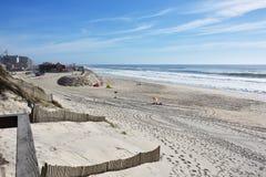 新星,在阿威罗, Centro,葡萄牙附近的一个著名海滩 免版税库存照片
